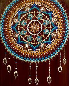 Mandala Art Lesson, Mandala Artwork, Mandala Canvas, Mandala Painting, Mandala Drawing, Dream Catcher Art, Dream Catcher Mandala, Mandala Painted Rocks, Mandala Rocks