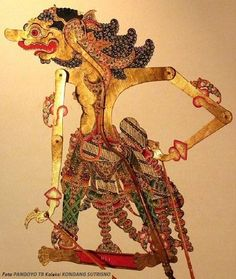Burisrawa in Surakarta style. Surakarta, Puppet Crafts, Javanese, Shadow Puppets, Lionel Messi, Ganesha, Door Design, Sony, Humor