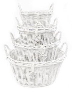 #White oval kids baby nursery storage #organiser decoration decor #wicker basket,  View more on the LINK: http://www.zeppy.io/product/gb/2/112029569244/