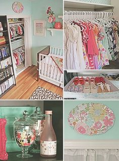 Pink and Aqua Girls Nursery Doubles as Office Space | Baby Lifestyles