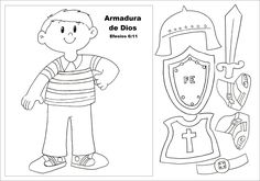 Armor of God Sunday School Activities, Bible Activities, Sunday School Lessons, Sunday School Crafts, Bible School Crafts, Bible Crafts For Kids, Mig E Meg, Jesus Coloring Pages, Kids Church Lessons