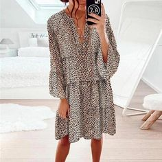 CASUAL DRESSES – vudevy Dresses Short, Knee Length Dresses, Casual Dresses For Women, Cute Dresses, Mini Dresses, Women's Dresses, Loose Dresses, Shift Dresses, Motif Leopard