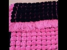 loom board pom pom blanket part 4 - YouTube