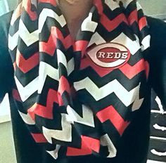 Cincinnati Reds MLB Infinity Scarf by ThriftyGirlDesign on Etsy, $26.00
