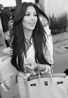 Kim Kardashian's long layers. #hair