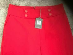 Bnwt Women's / Girls Oasis Red Short Skirt Size 8 #Oasis #ALine #AnyOccasion