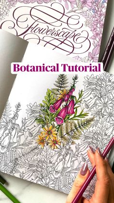 Adult Coloring Book Pages, Coloring Book Art, Flower Coloring Pages, Colouring, Colored Pencil Tutorial, Colored Pencil Techniques, Wildflower Drawing, Blending Colored Pencils, Johanna Basford Coloring Book