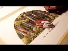 """Watercolor illustration """"traces"""" timelapse work in progress painting drawing art by Iraville - YouTube"""