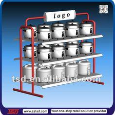 Promoción de metal display rack para cocina de arroz