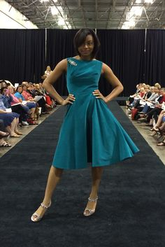 Butterick vintage-style dress B6094 by Gertie. As seen at the 2014 American Sewing Expo.