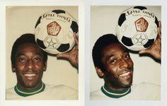 Pele, 1977. Andy Warhol Polaroids.