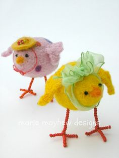 how to knit a nest with eggs felted bird nest empty nest gifts BIRD/'S NEST pattern by Marie Mayhew booklet pattern