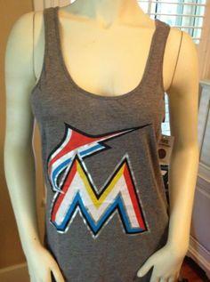 Victoria's Secret Pink MLB Miami Marlins Low Back Tank Top T Shirt Tee Top XS S | eBay