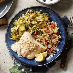 Quinoa Nutrition, Quinoa Protein, Protein Foods, Diabetic Living Magazine, Halibut, How To Cook Quinoa, Roasted Garlic, Dinner Recipes, Mascarpone