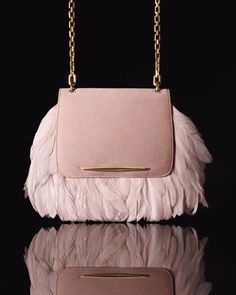 Nina Ricci - Fur Bags, Feather Shoes, and More: The Most Breathtaking Fall Fashion 2013 Accessories Ever - Fall Accessories Report 2013 - Fa. Fur Bag, Fall Accessories, Perfect Pink, Suede Ankle Boots, Metallic Leather, Beautiful Bags, Leather Clutch, Purses And Handbags, Avon