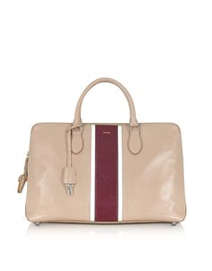 Rochas Leti Striped Leather Tote $2400 http://www.zoanne.com/bags/rochas-leti-striped-leather-tote/