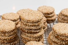 Honey Sesame Seed Cookies, a Natural Fructose Snack - The Finer Cookie Sesame Cookies, Seed Cookies, Tahini, Cupcake Cakes, Cupcakes, Baked Goods, Seeds, Brunch, Avocado