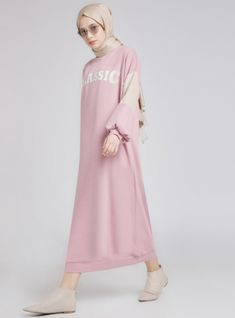White - Pink - Ecru - Crew neck - Unlined - Dresses - Benin - is-sit tiegħi Modest Dresses, Modest Outfits, Chic Outfits, Casual Dresses, Fashion Outfits, Style Fashion, Modest Clothing, Long Dresses, Skirt Outfits