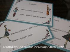 great idea to make bunco table cards... everyone forgets