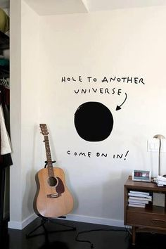 universe hole. awesome idea for a teenager room. inspiration für ein Jugendzimmer / Teenagerzimmer.