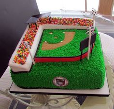 perfect groom cake or birthday cake for any baseball fanatic guy