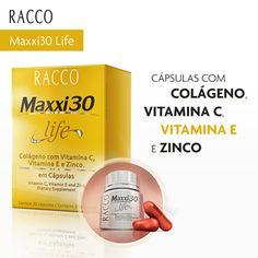 Com as cápsulas Maxxi 30 você garante ao seu organismo o poder das vitaminas C e E e ainda é beneficiado pelo poder do colágeno e do zinco. Livre-se da gordura com saúde! #maxi30 #colageno #vitaminaC #zinco #vitaminaE