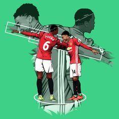 Pogba & Lingard Dab Celebration Manchester United Poster Manchester United Poster, Manchester United Wallpaper, Manchester United Players, Ronaldo Football, Football Art, Football Videos, Paul Pogba, Pogba Wallpapers, Pogba Dab