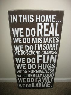 Family Rules Vinyl Subway Art Board by lisamingersoll on Etsy, $40.00