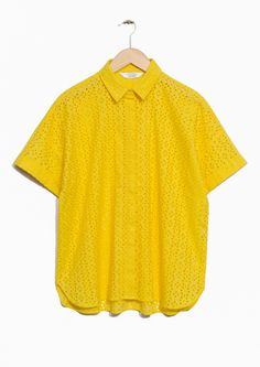 & Other Stories image 1 of Broderie Anglaise Blouse in Yellow