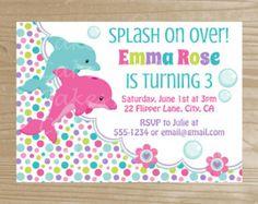14 best dolphin invitations images on pinterest dolphin party dolphin invitation dolphin printable invitation birthday dolphin invitation for girls digital file filmwisefo