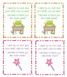 Classroom Freebies Too: Student Appreciation Notes- Hooray!