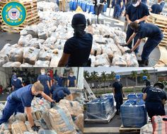 Coast Guard Cutter Escanaba's crew offload $85.9 million worth of narcotics consisting of approximately 3,250 pounds of cocaine, 440 pounds of liquid cocaine, and 7,700 pounds of marijuana at Port Everglades, Florida.
