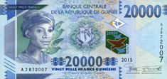 Guinea's 20,000 Francs Note