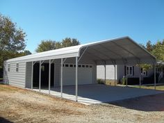 Typically, the shed is the width of the carport and can be depth in five foot sections. Description from barnshedandcarportdirect.com. I searched for this on bing.com/images