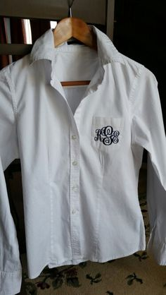 Monogrammed oxford
