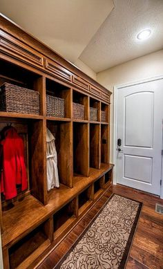 2012 Marion 024 2012 Marion 024 Ashley Herrin Save Images Ashley Herrin Love this mudroom Individual spots for jackets low shel… – Mudroom Style At Home, Mudroom Laundry Room, Laundry Area, Sweet Home, Porche, Built Ins, Home Organization, Organizing, My Dream Home