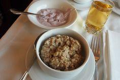 Oatmeal and yogurt - #ViaRail #Canada