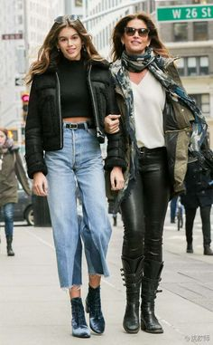 Kaia Gerber and Cindy Crawford - Street Chic