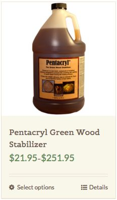 Question: A recent storm left a large tree limb in our yard. I'd like to slice cross sections for plaques and trivets.  How do I keep the slices from splitting as they dry?  Answer: Pentacryl wood preservative is an excellent product made for