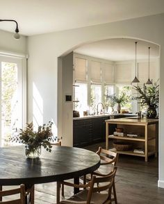 Kitchen Dinning, Kitchen Decor, Dining Room, Interior Design Inspiration, Home Interior Design, Beautiful Kitchens, Kitchen Interior, Decoration, Home Kitchens