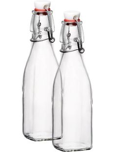 Bormioli Rocco Square Swing Bottle 33.75 Ounce, Pack of 2 ❤ Bormioli Rocco