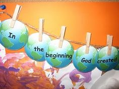 Genesis 1:1 What a cute way of teaching fun and encouraging Bible verses for our children and grandchildren