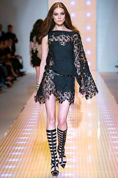 #Versus - Ready-to-Wear - 2013 Spring-Summer  black dresses #2dayslook #new style #blackstyle  www.2dayslook.com