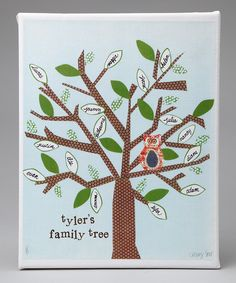 Someday Inc. Blue Family Tree Personalized Canvas - easy to make your own.