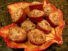 Mini pecan pie muffins for Thanksgiving.