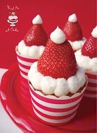 Santa Cupcakes Great for the kids and the adults at a holiday party