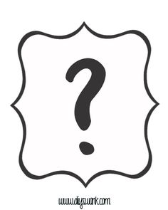 Question mark pattern. Use the printable outline for