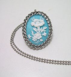 www.etsy.com/shop/eternalelfcreations  Flower Cameo necklace chainmaille pendant by Eternalelfcreations, $17.00