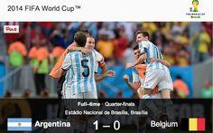 Argentina beat Belgium 1 -0