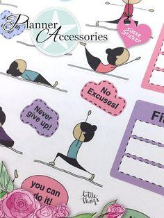 Sticker Planner Bogen Fitness Sport von EmelysPlannerShop auf Etsy